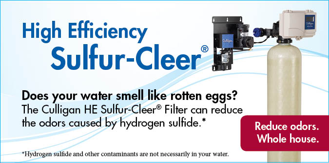 Whole House Filters Sulfur Removal Culligan Water
