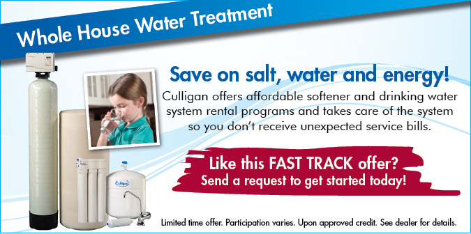 Whole House Water Treatment Offer