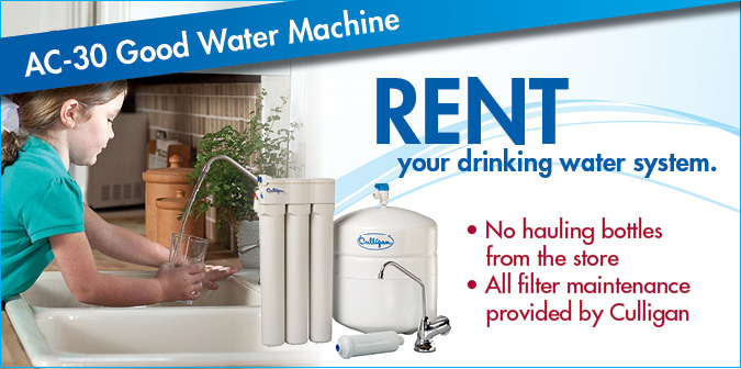 Drinking Water System Rental Offer 20 Standard Install